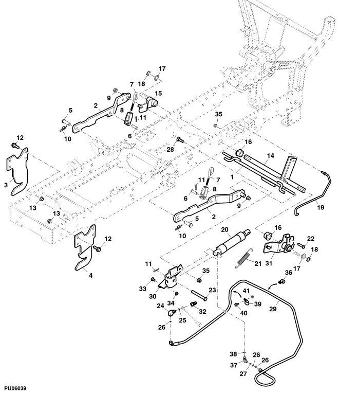 1023E Remove part to install drive shaft – John Deere 1023e Wiring Diagram