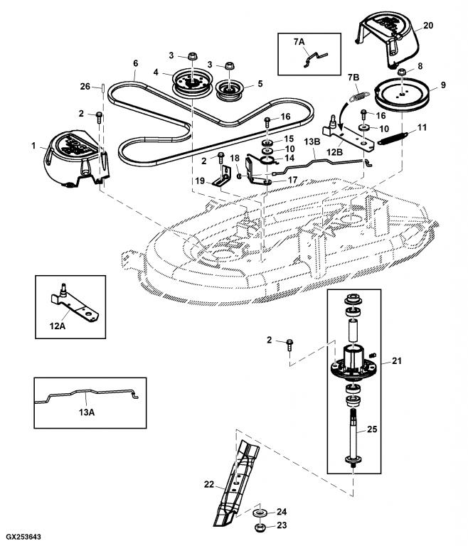 35 John Deere 318 Belt Diagram