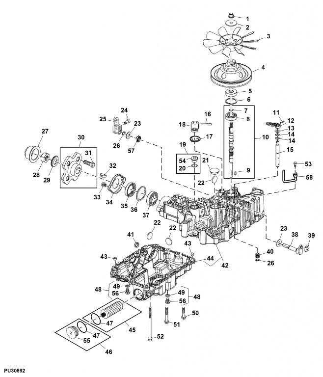920m zero turn leaking transmission