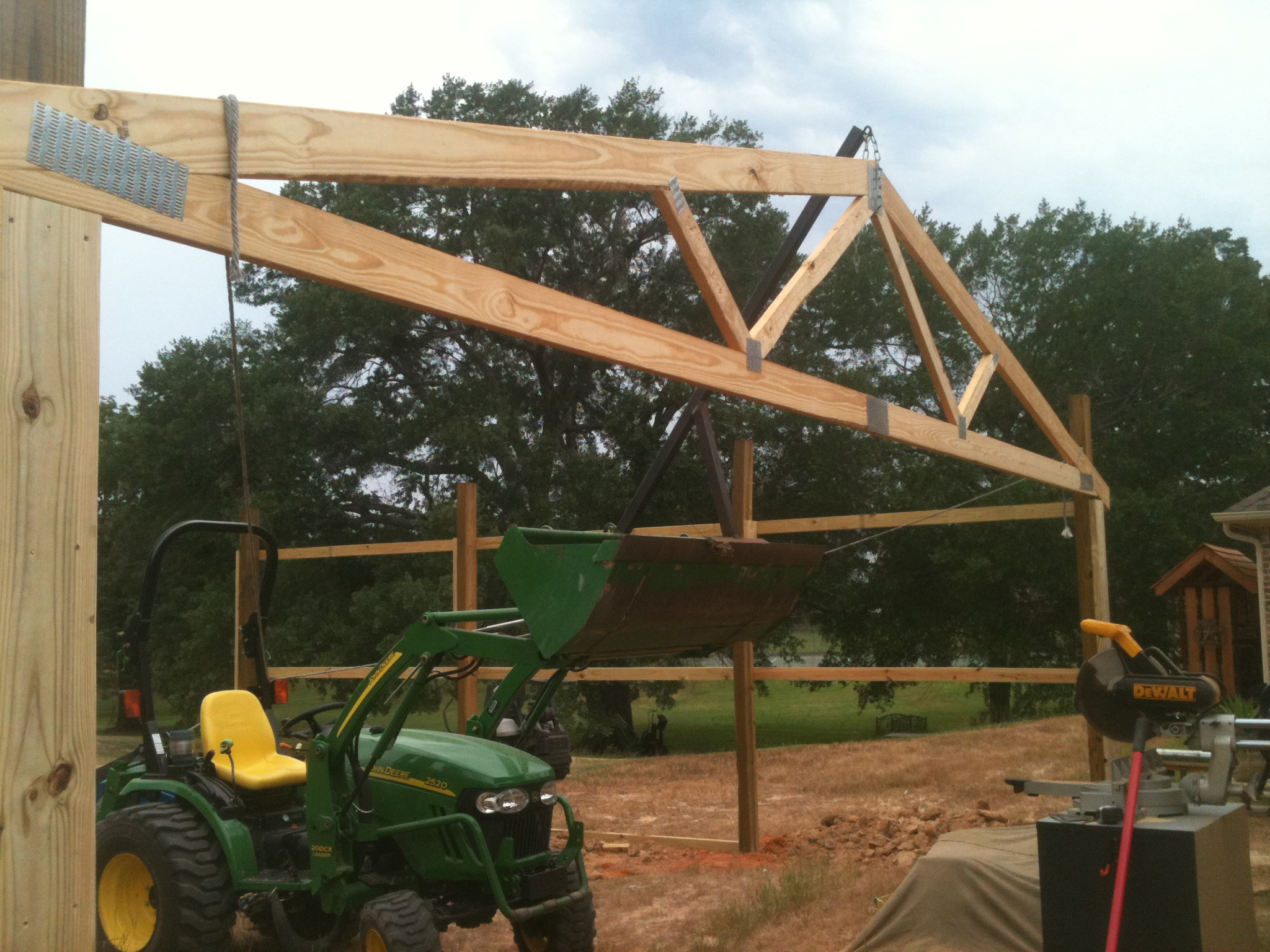 Setting Trusses By Myself And 2520