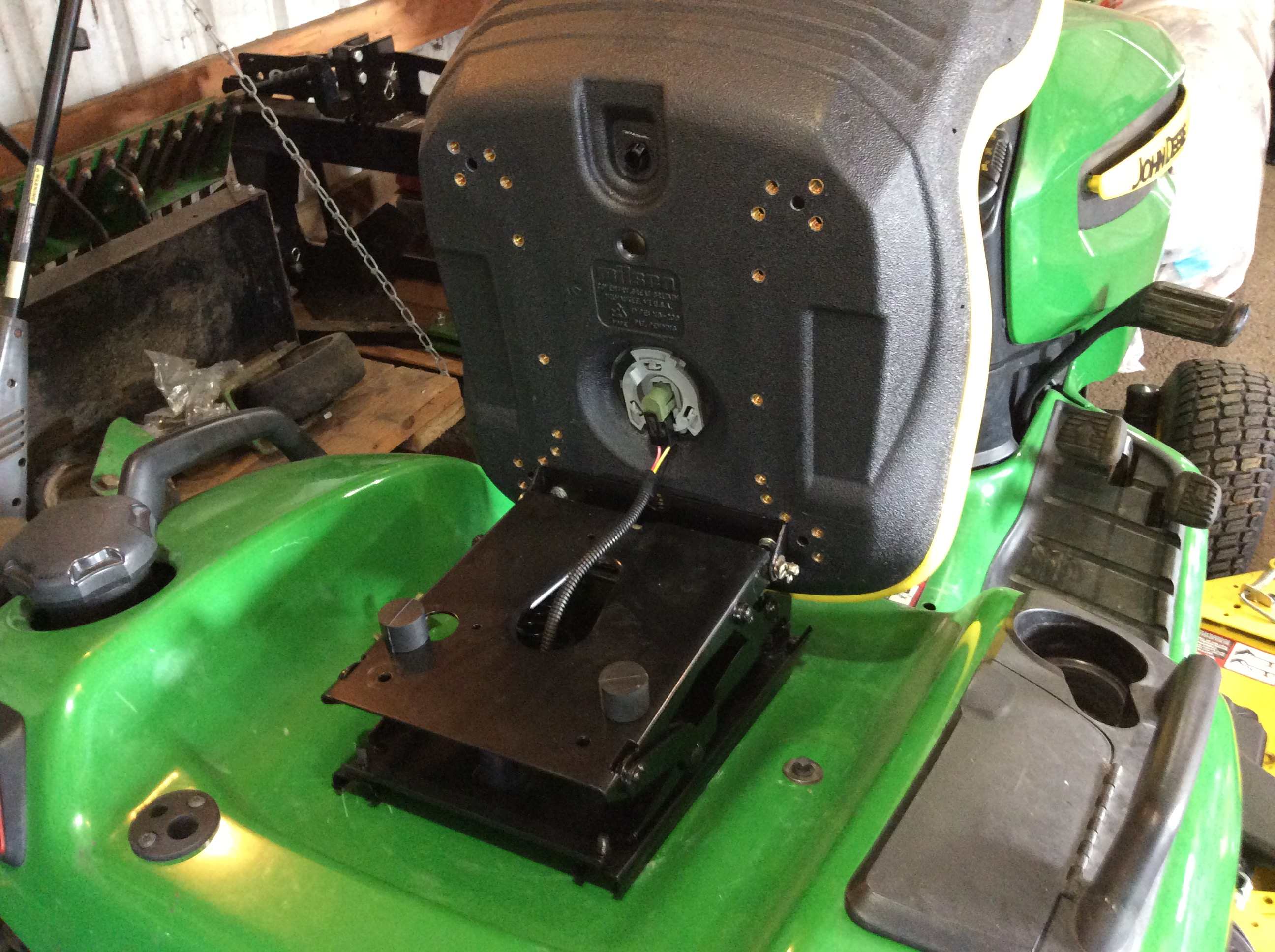 Installing Air-ride seat (BM24379 for the x700 series mower