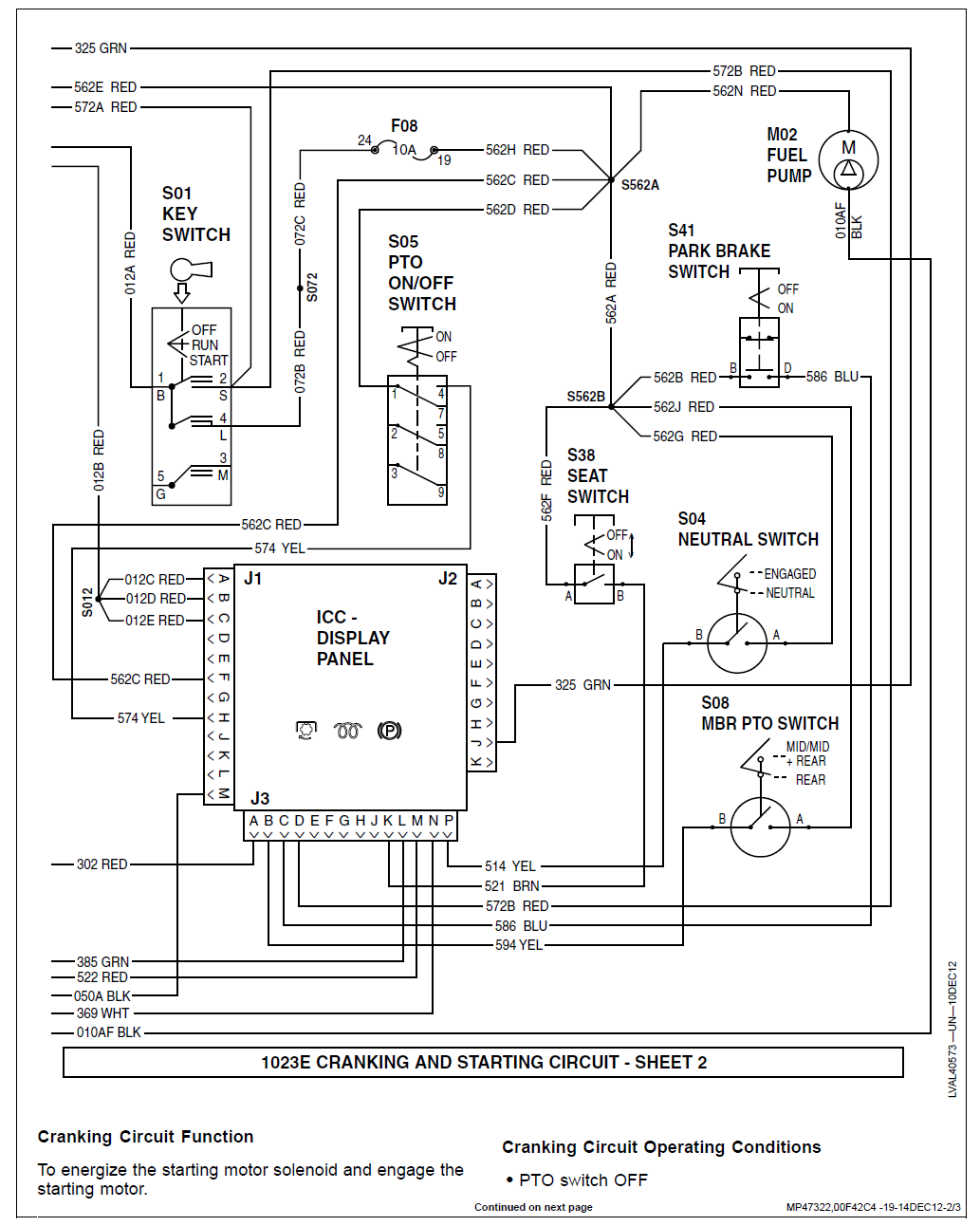 Diagnose Fuel Solenoid 1023