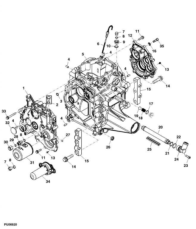 1025R - Stripped Transmission Oil Plug