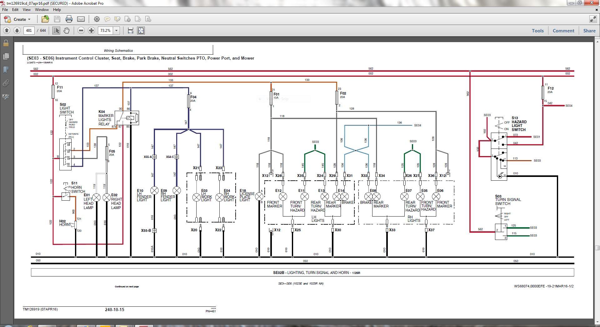 john deere 160 wiring harness 1023e auxilliary lighting using factory wiring harness   green  using factory wiring harness