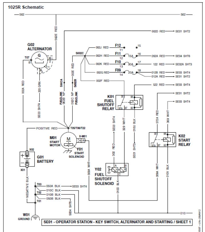 2320 No Power to PULL Fuel Shutoff Solenoid Farm Tractor Wiring Diagram Diode on