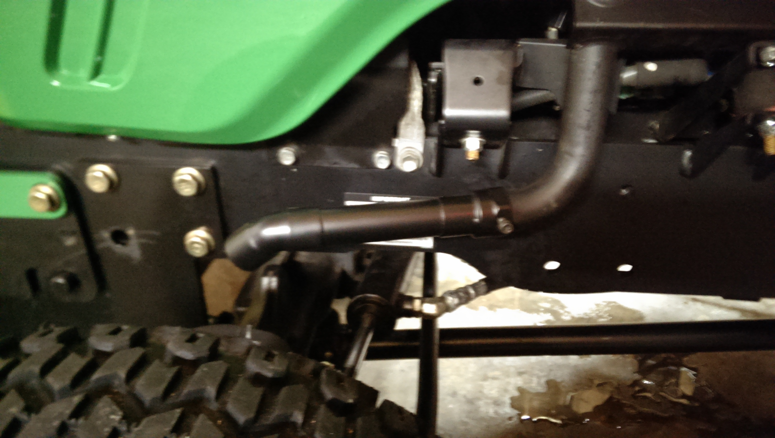 Tractor Exhaust Pipe Extension : Exhaust extension for