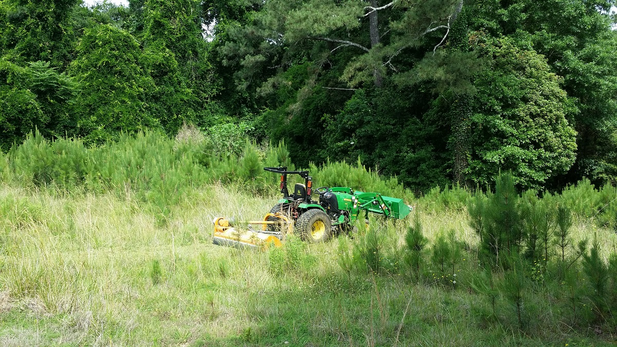 2032R to pull a JD 370 flail mower?