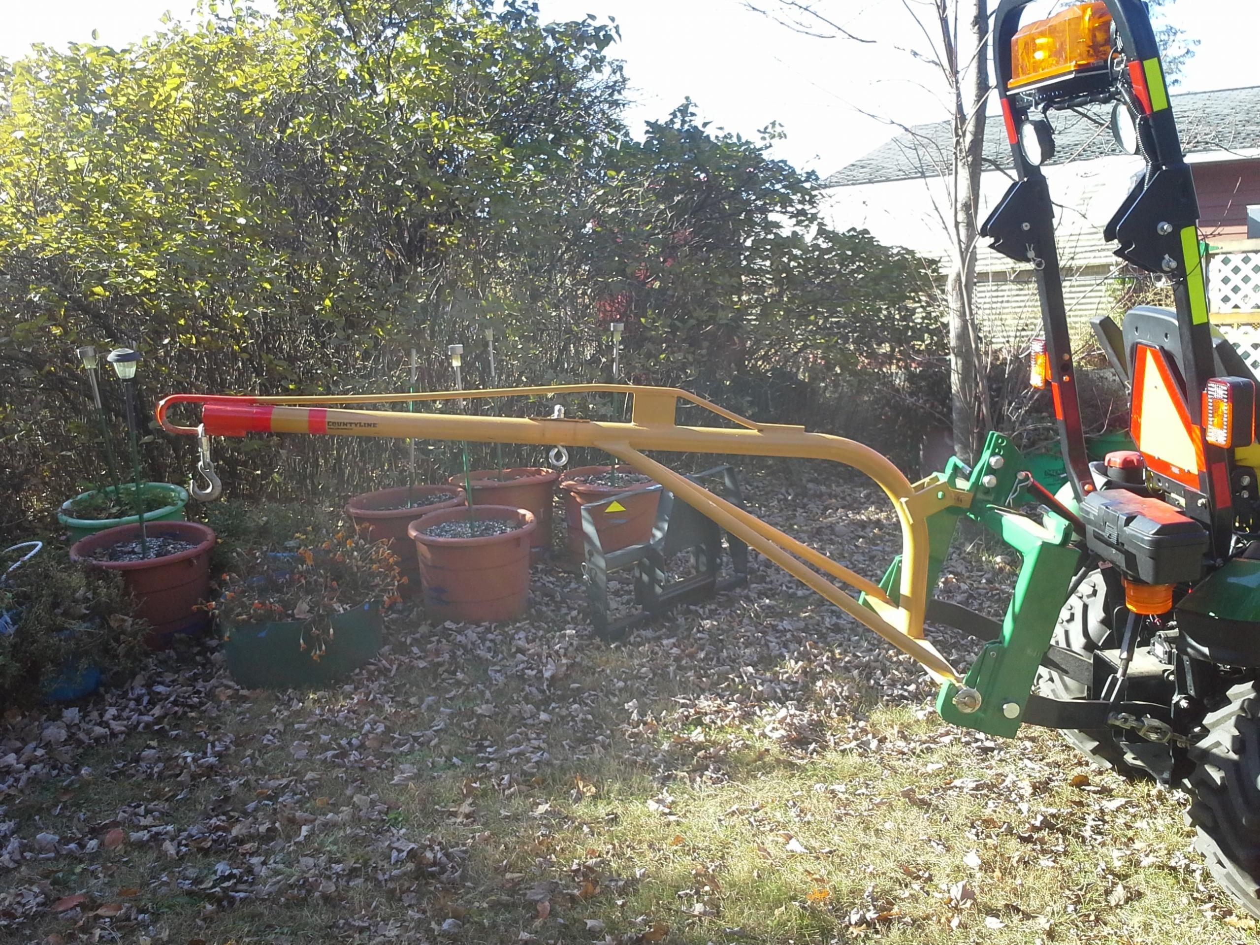 Tractor Boom Pole Lift : Point lift boom page