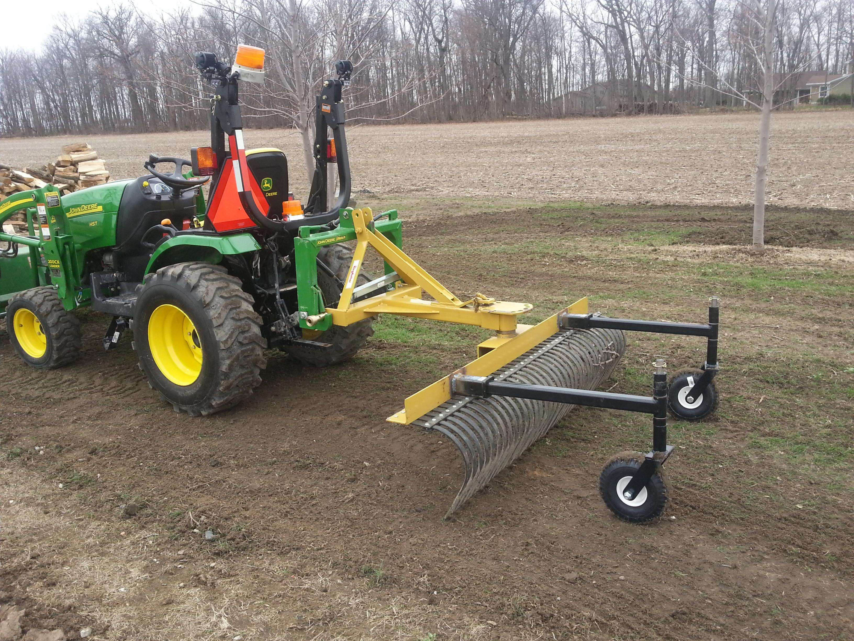 Click image for larger version. Name: 20150414_121738.jpg Views: 74 Size:  ... - Landscape Rake With Gauge Wheels -Disconnect Top Link