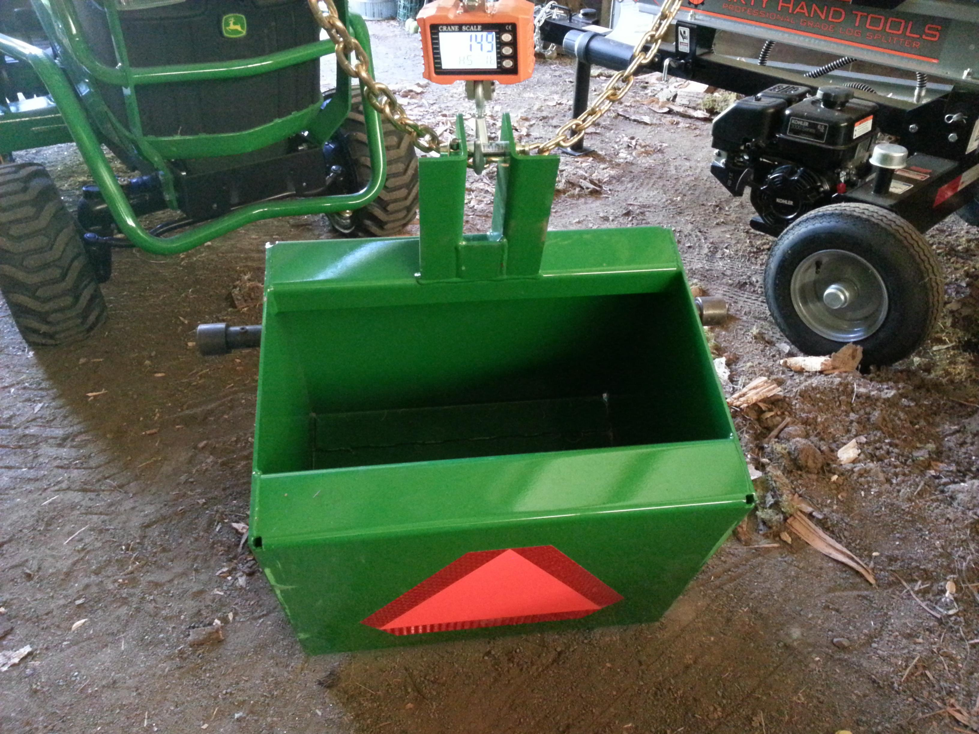 Tractor Ballast Box : John deere ballast box weights lb