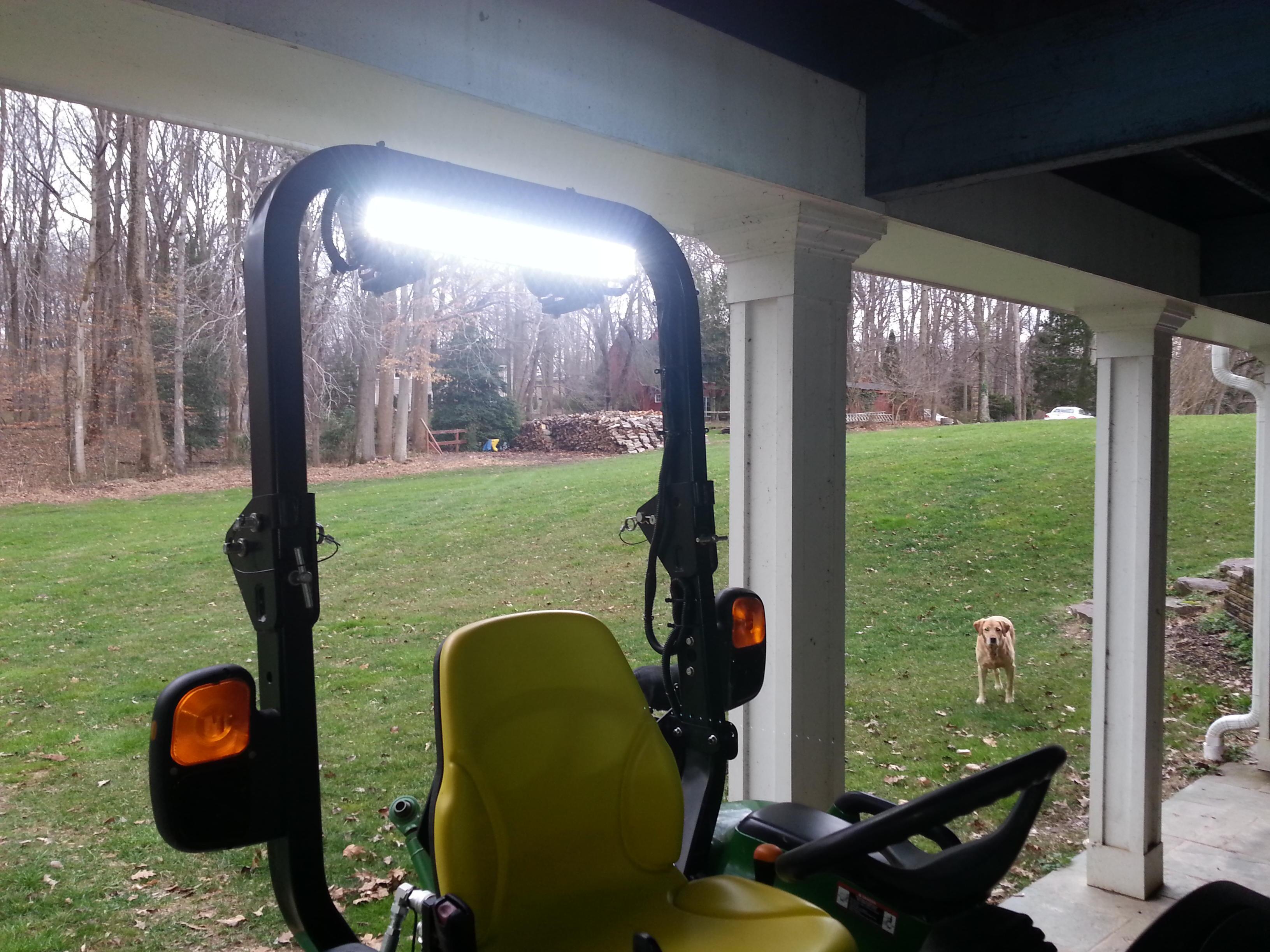 Adding Led Work Lights To 3320
