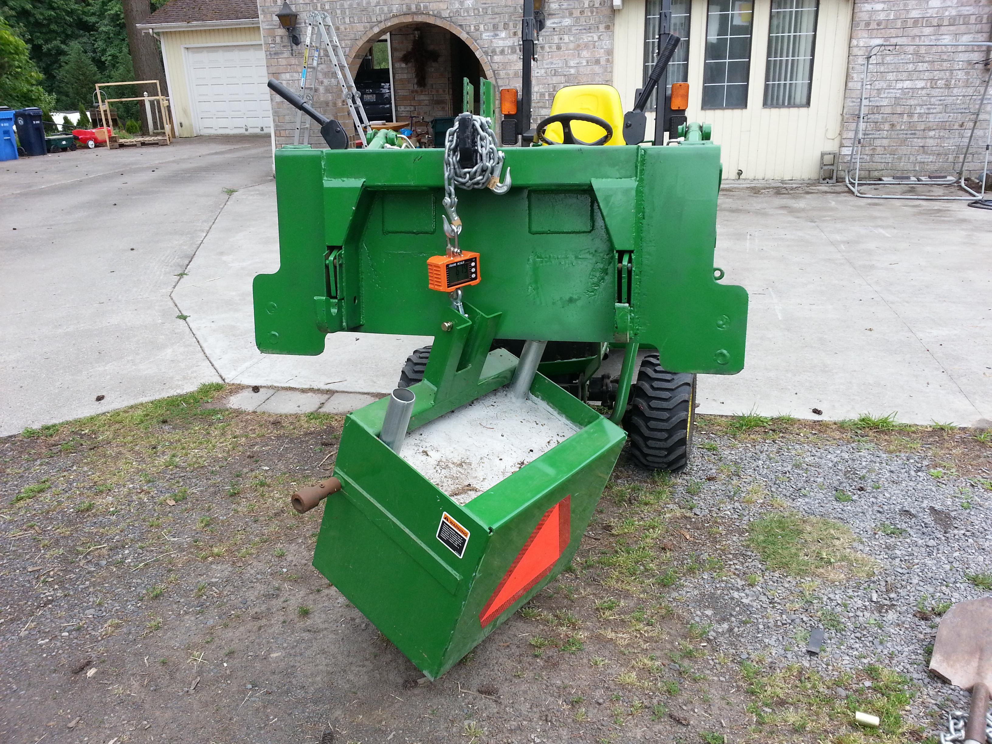 Tractor Ballast Box : Ballast box weight in at lb