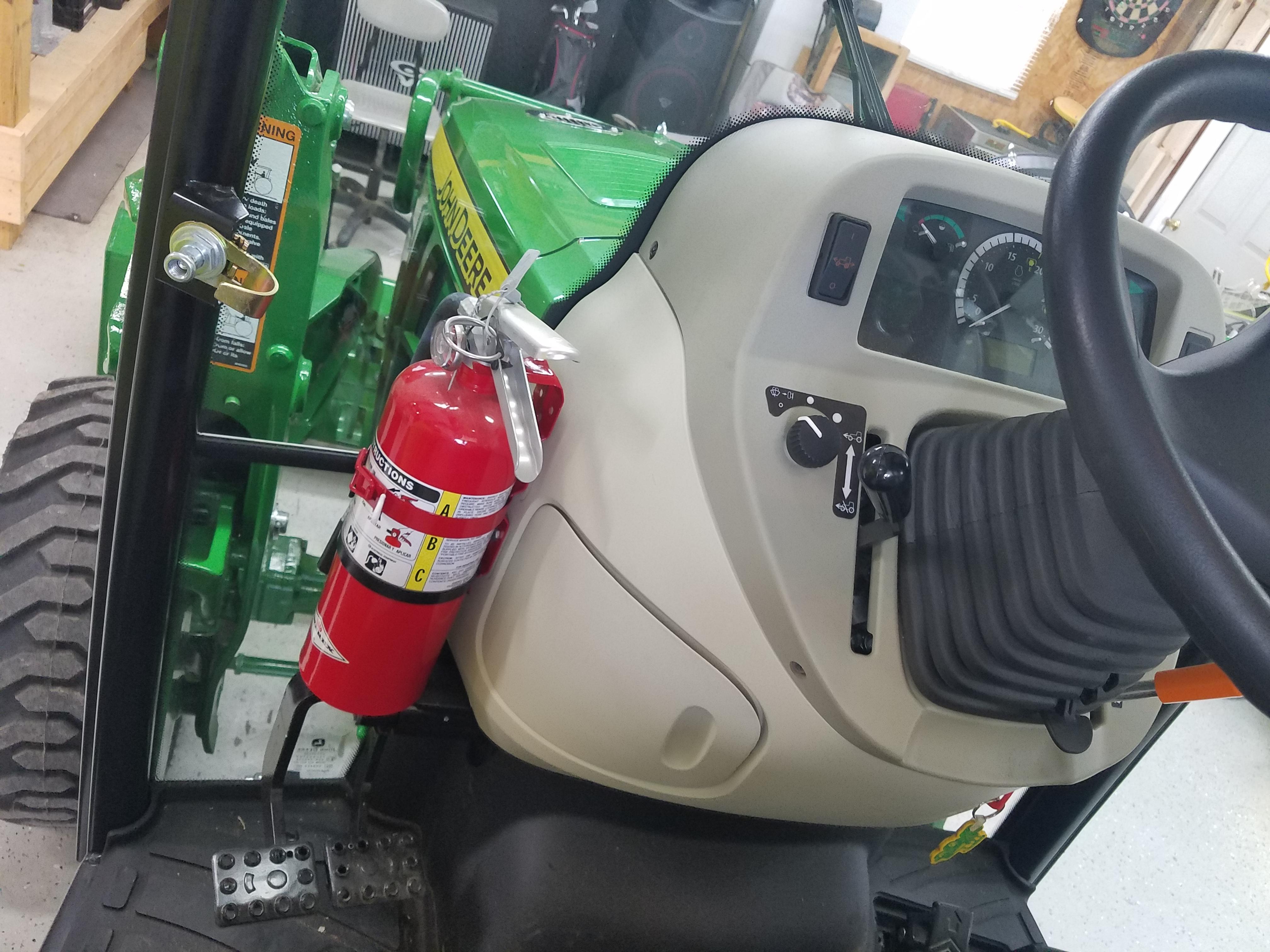 John Deere Fire Extinguishers : Fire extinguisher in r cab