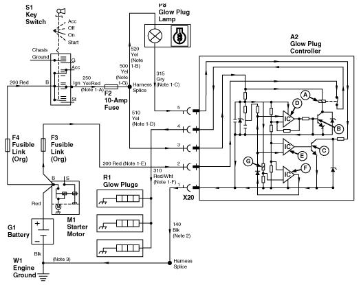 332 glow plug question click image for larger version 330 332 430 glow plug circuitry