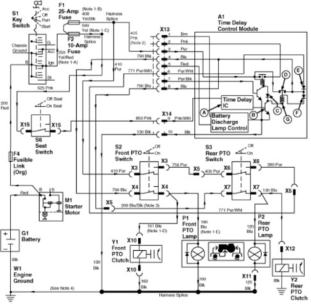 John Deere 332 PTO switch / 25 amp fuse problems | Green Tractor Talk | John Deere 430 Wiring Diagram |  | Green Tractor Talk