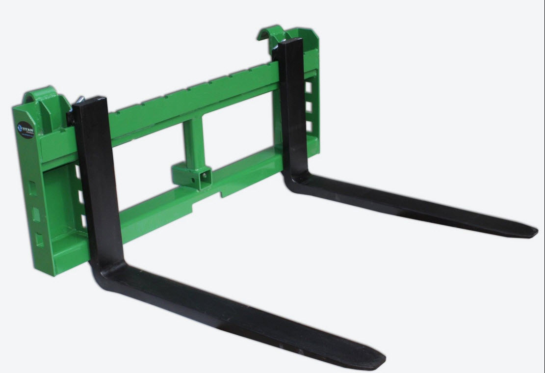 42 Pallet fork attachment with 2 trailer receiver hitch for John deere loader.jpg
