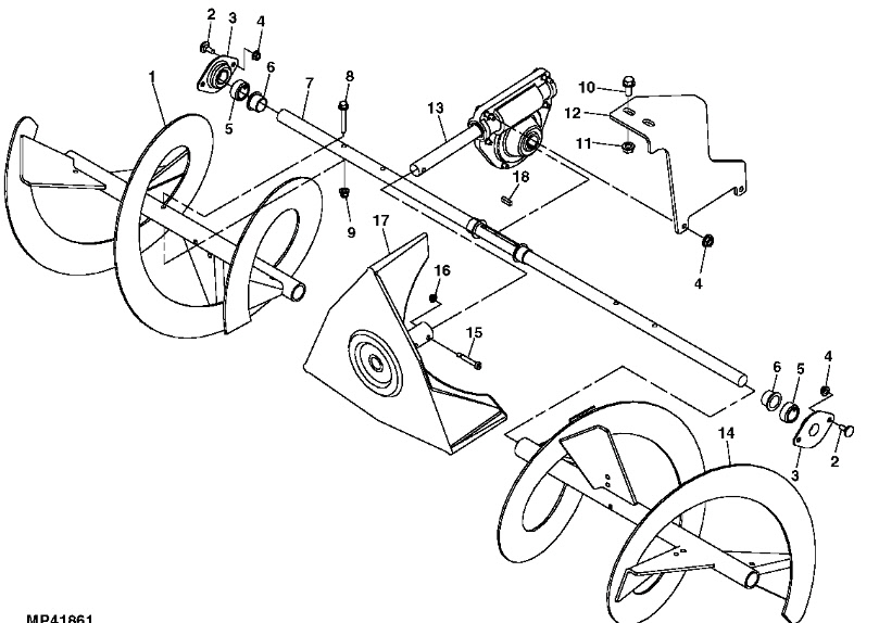 John Deere 42 Inch Snow Blower Parts Diagram