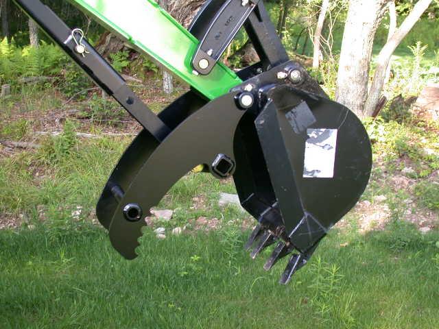John Deere 375a Backhoe : New r with a backhoe manual thumb