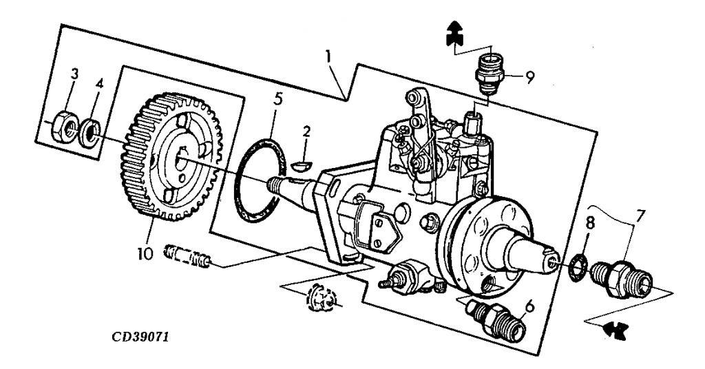 5105 Fuel Injector Pump Removal