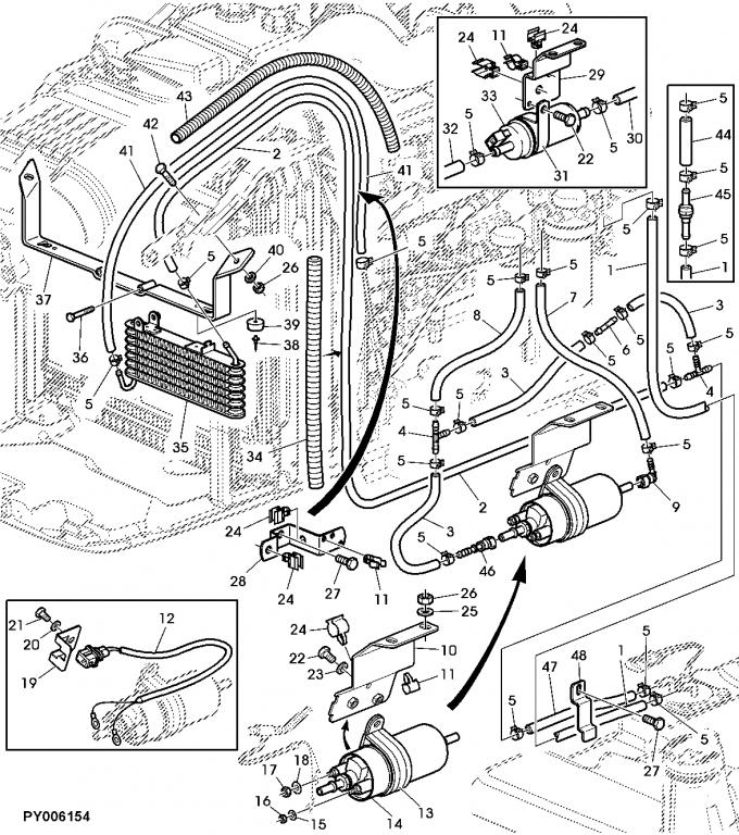 6715 fuel pump – John Deere X485 Wiring Diagram
