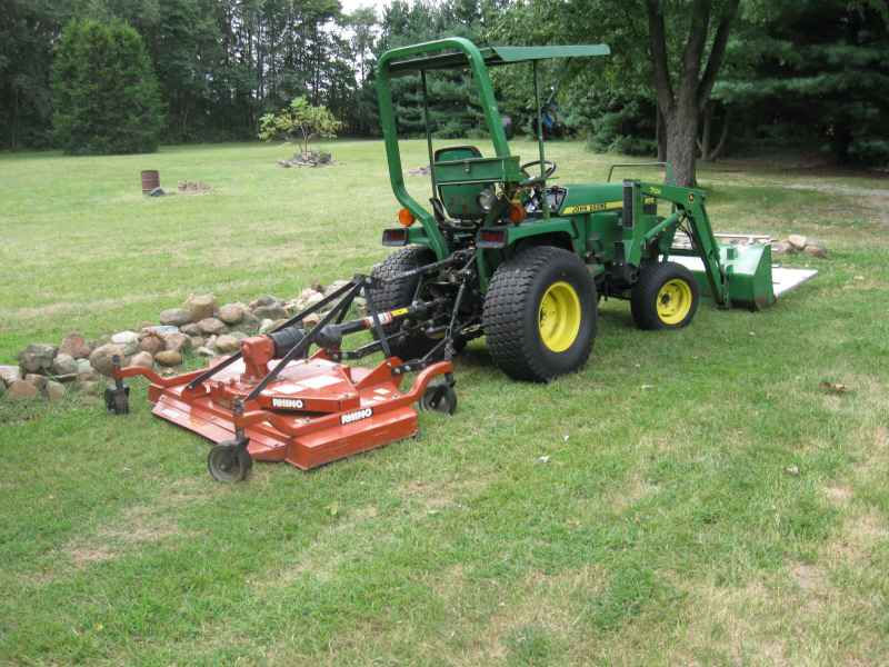 6' finishing mower with 1025r?
