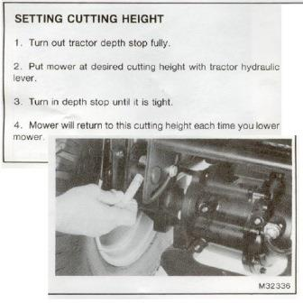 how to adjust cutting height on a 318 46