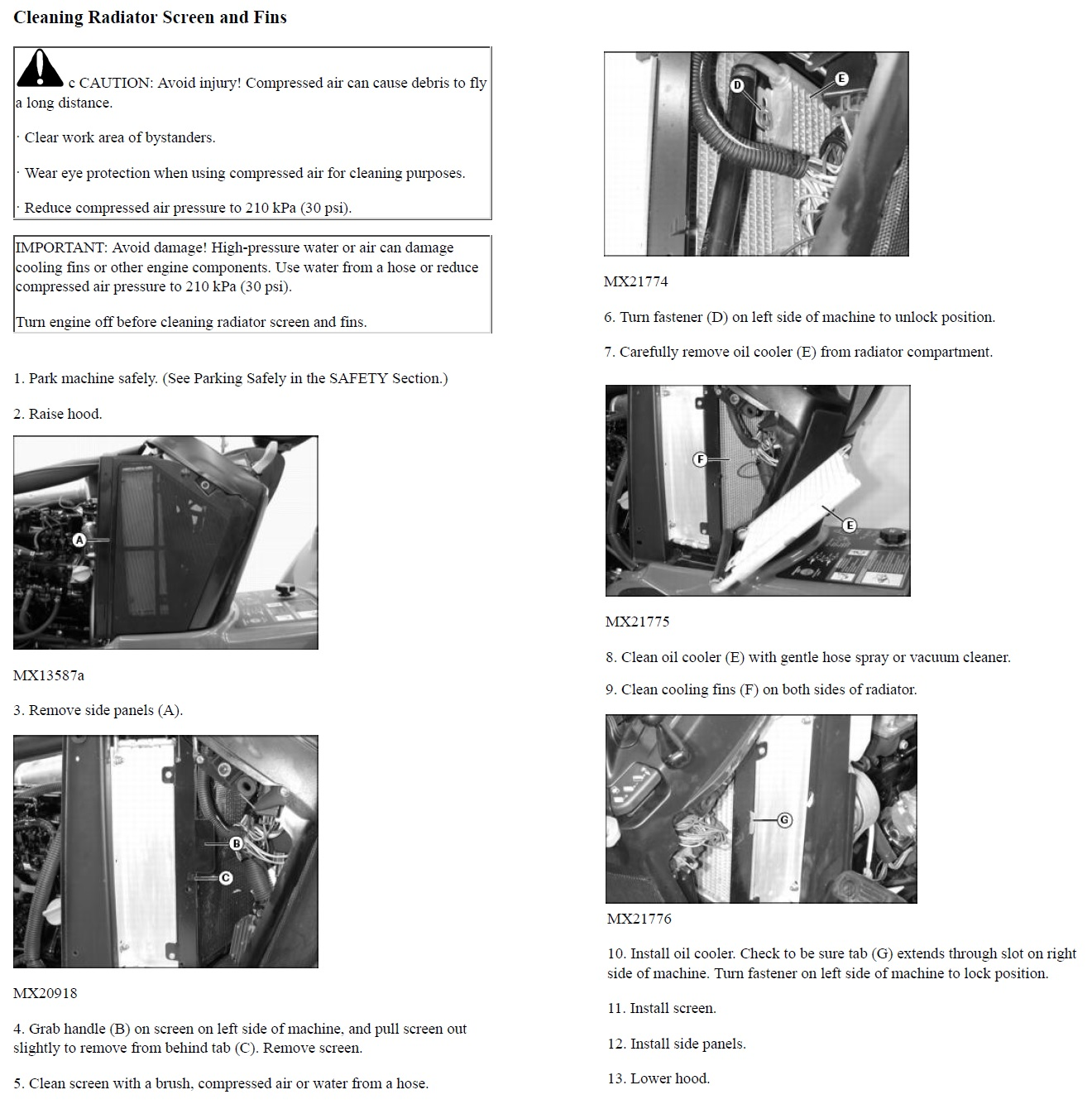 Click image for larger version.  Name:cooling service instructions for diesel x495.jpg Views:9 Size:360.8 KB ID:712940