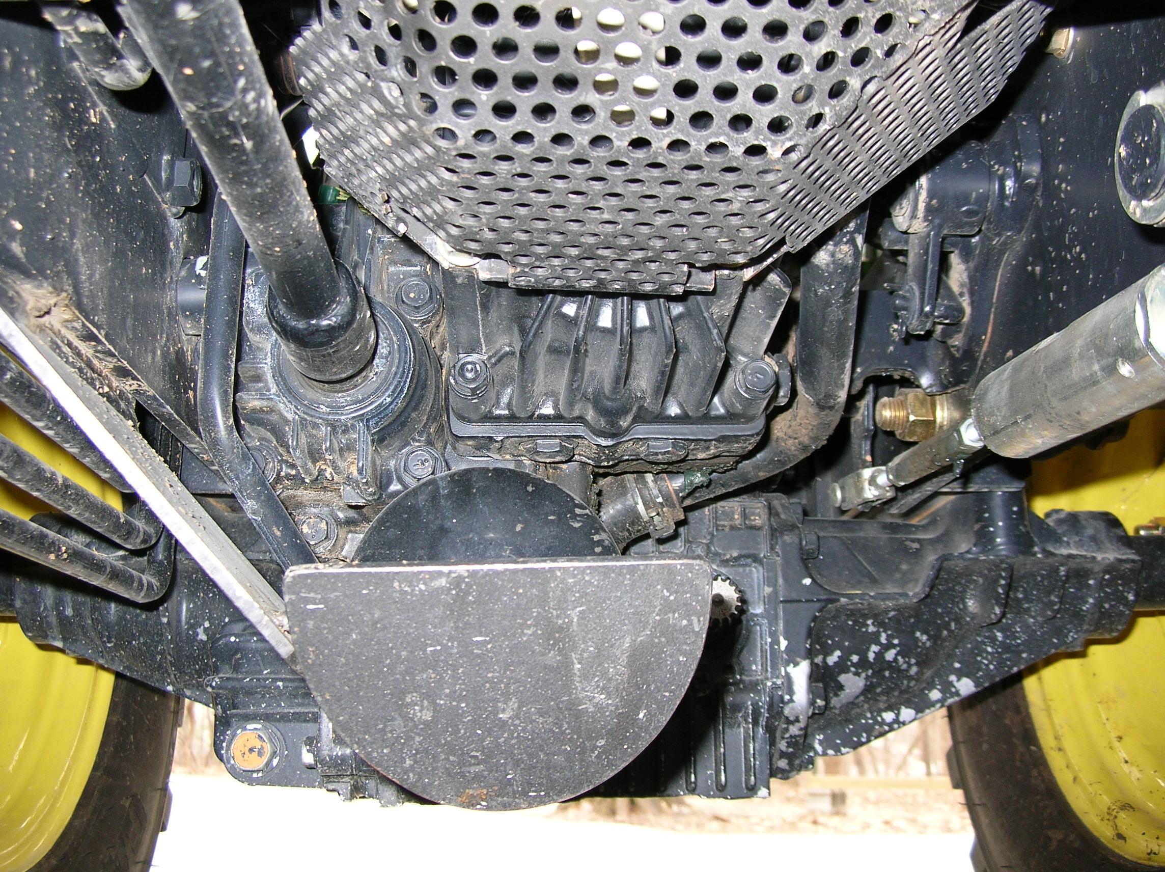 Tractor Fan Guard : Arcgh screwed up the transmission fan on my and