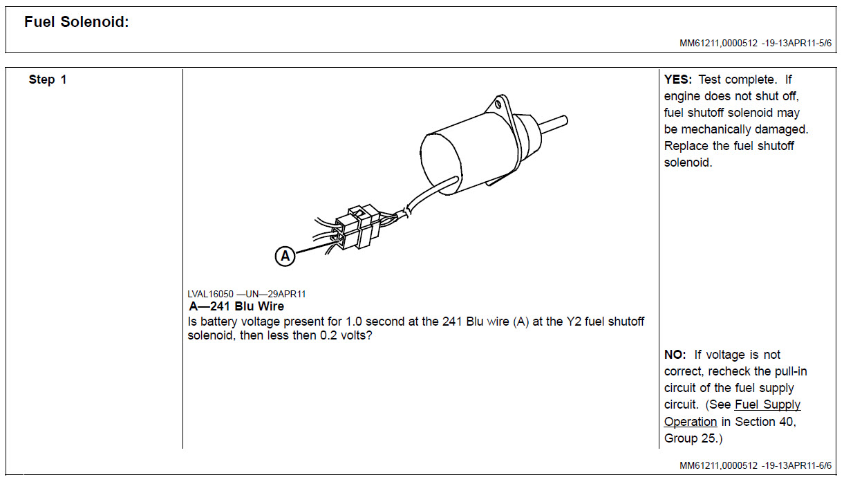 [SCHEMATICS_4ER]  2520 Voltage to fuel solenoid? | Green Tractor Talk | John Deere 2520 Wiring Diagram |  | Green Tractor Talk