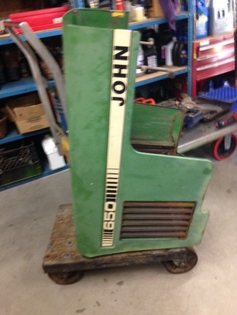 John Deere Front Hood : John deere hood and grill housing