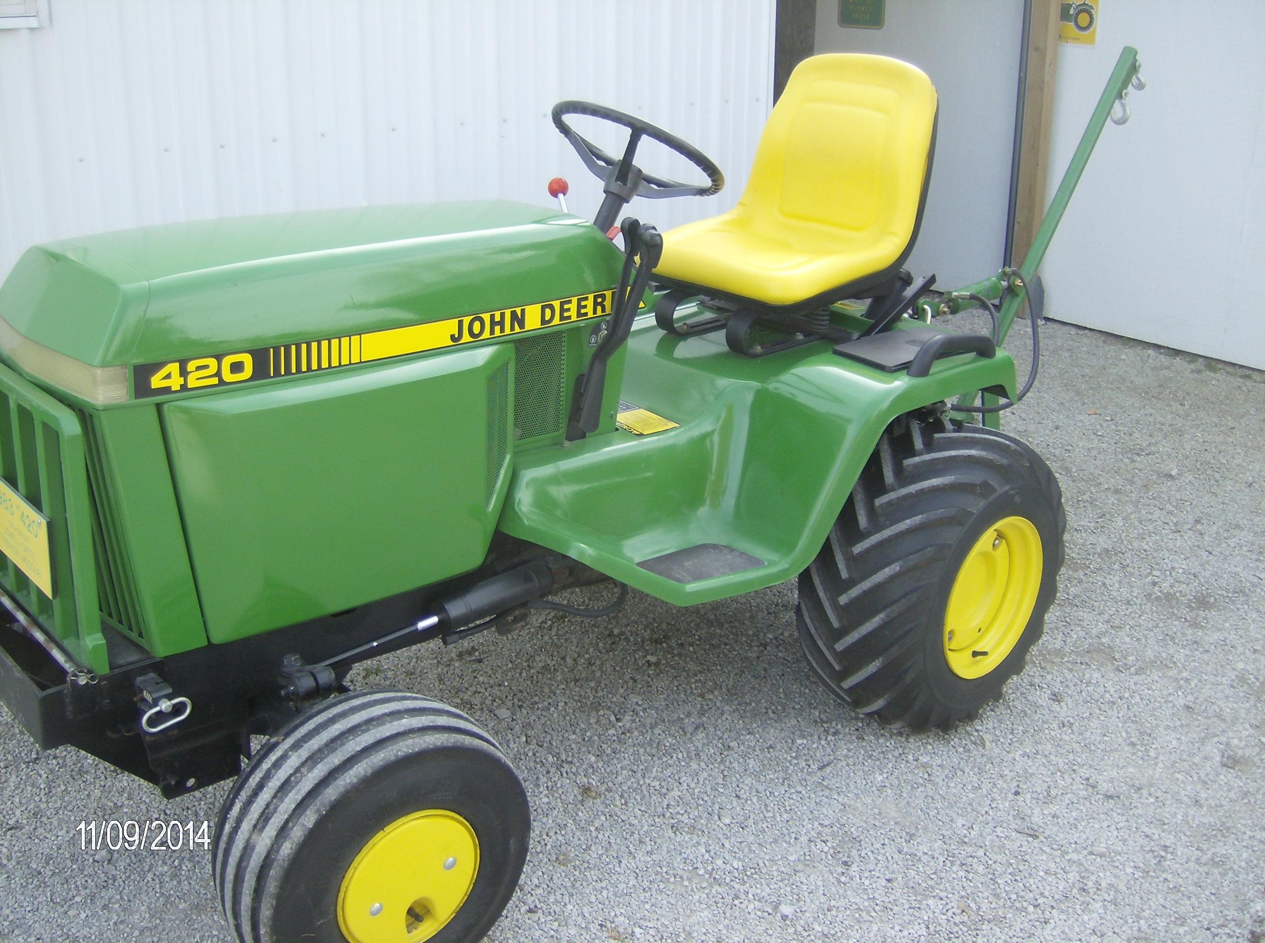 For Sale In North Missouri 1983 Jd 420 Garden Tractor