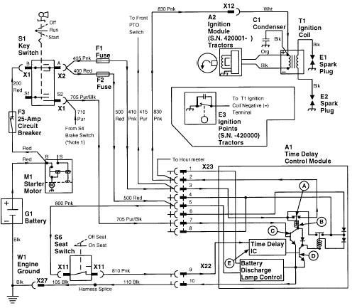 318 john deere time delay control module Ignition Wiring Diagram For John Deere Lt on