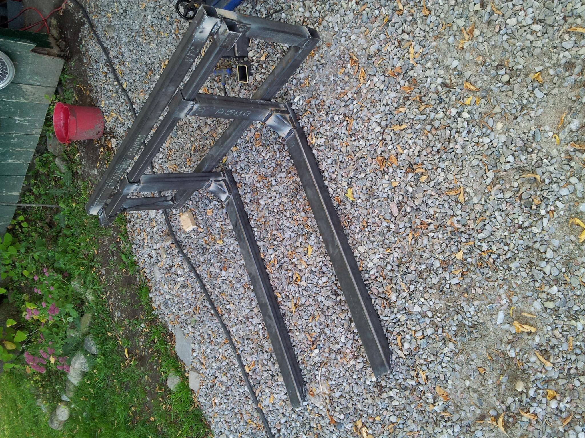 Homemade pallet forks
