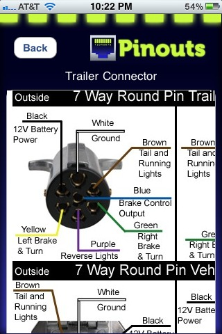 trailer 7 pin flat plug wiring diagram images plug inline trailer cord 7 blade bobcat 7 pin connector wiring diagram