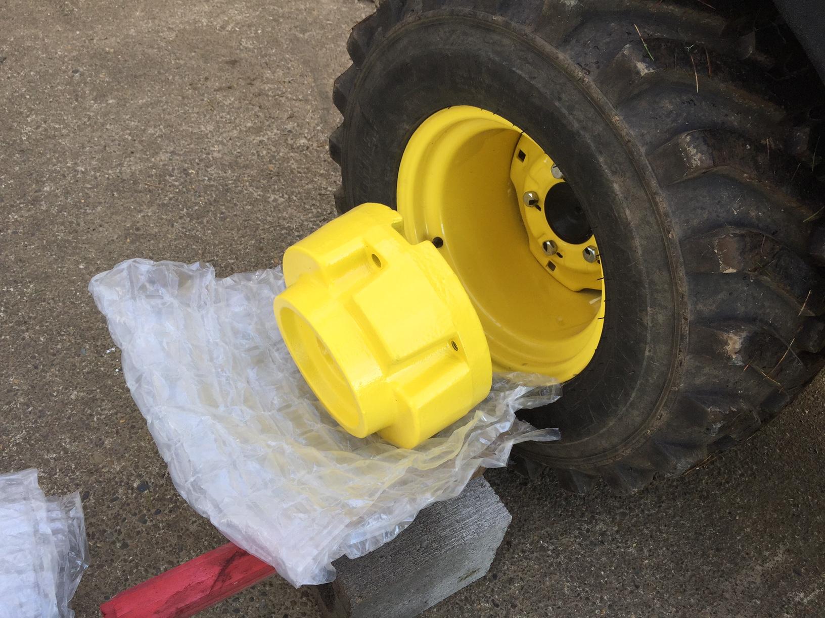 John Deere Rear Wheel Spacers : Any suggertions for installing rear wheel starter weights