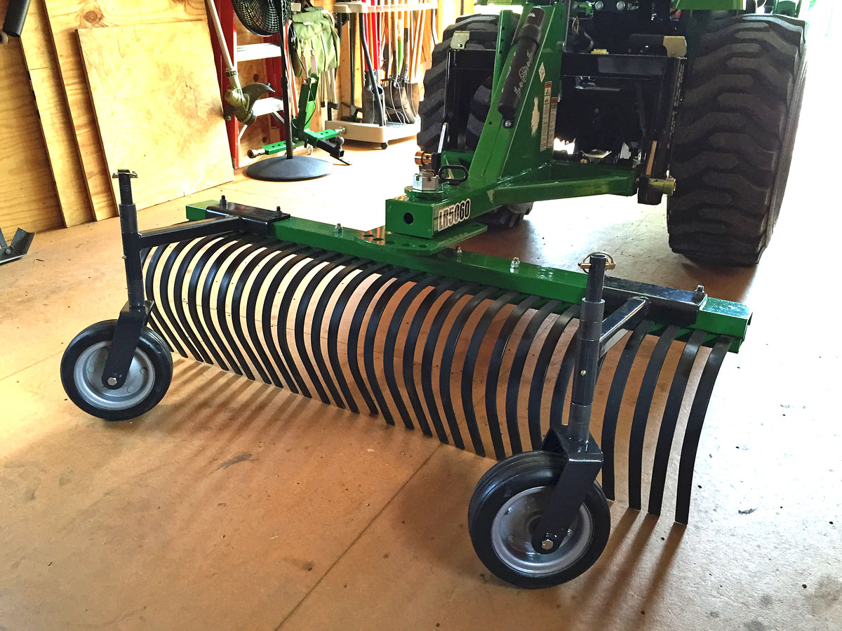 Looking for 5' rake with guage wheels
