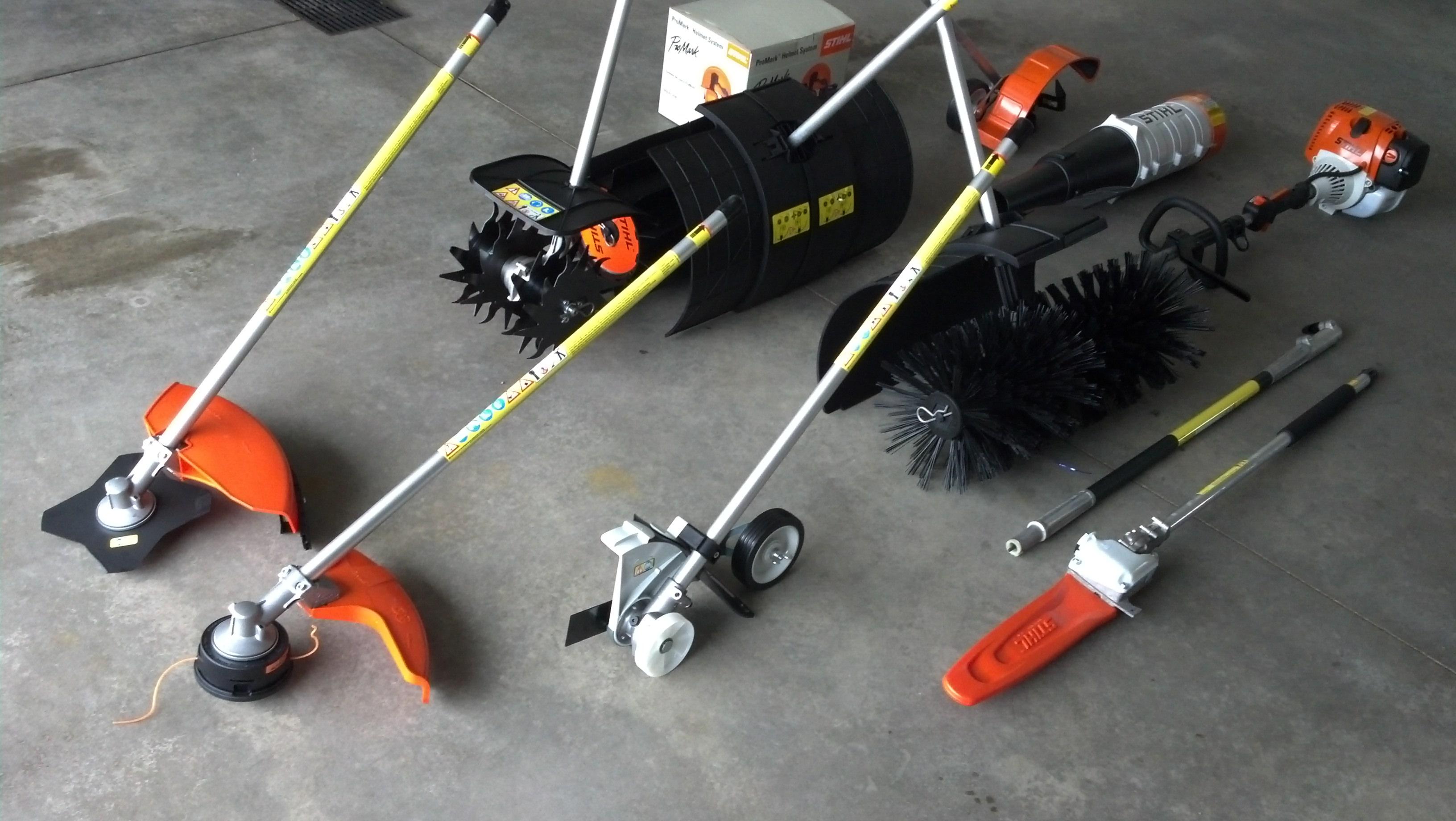 Stihl KM 130 R, KombiSystem and Yard Boss Attachments