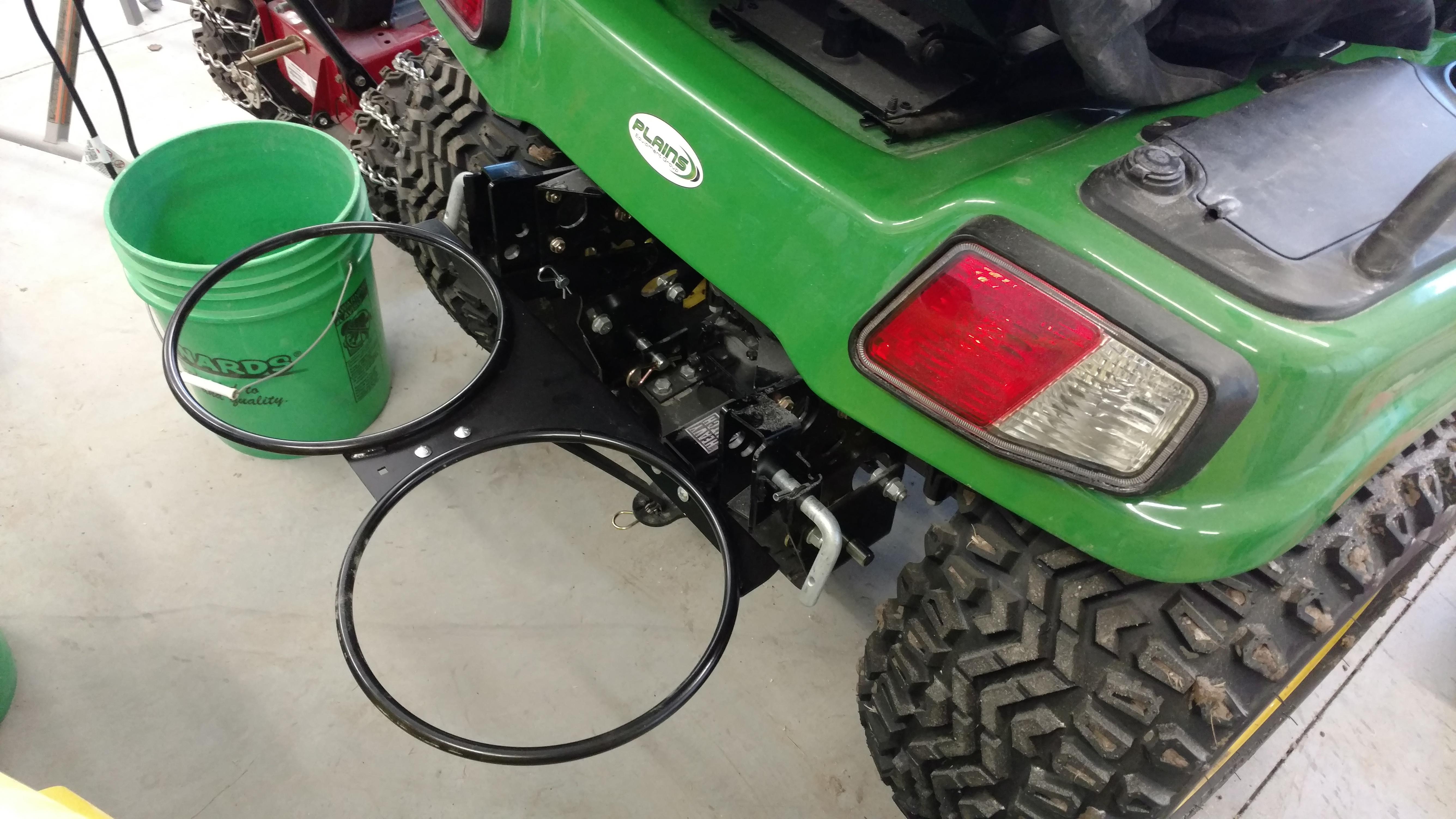 Kubota Lawn Tractor >> LPJD301 bucket holder on a 2016 x738