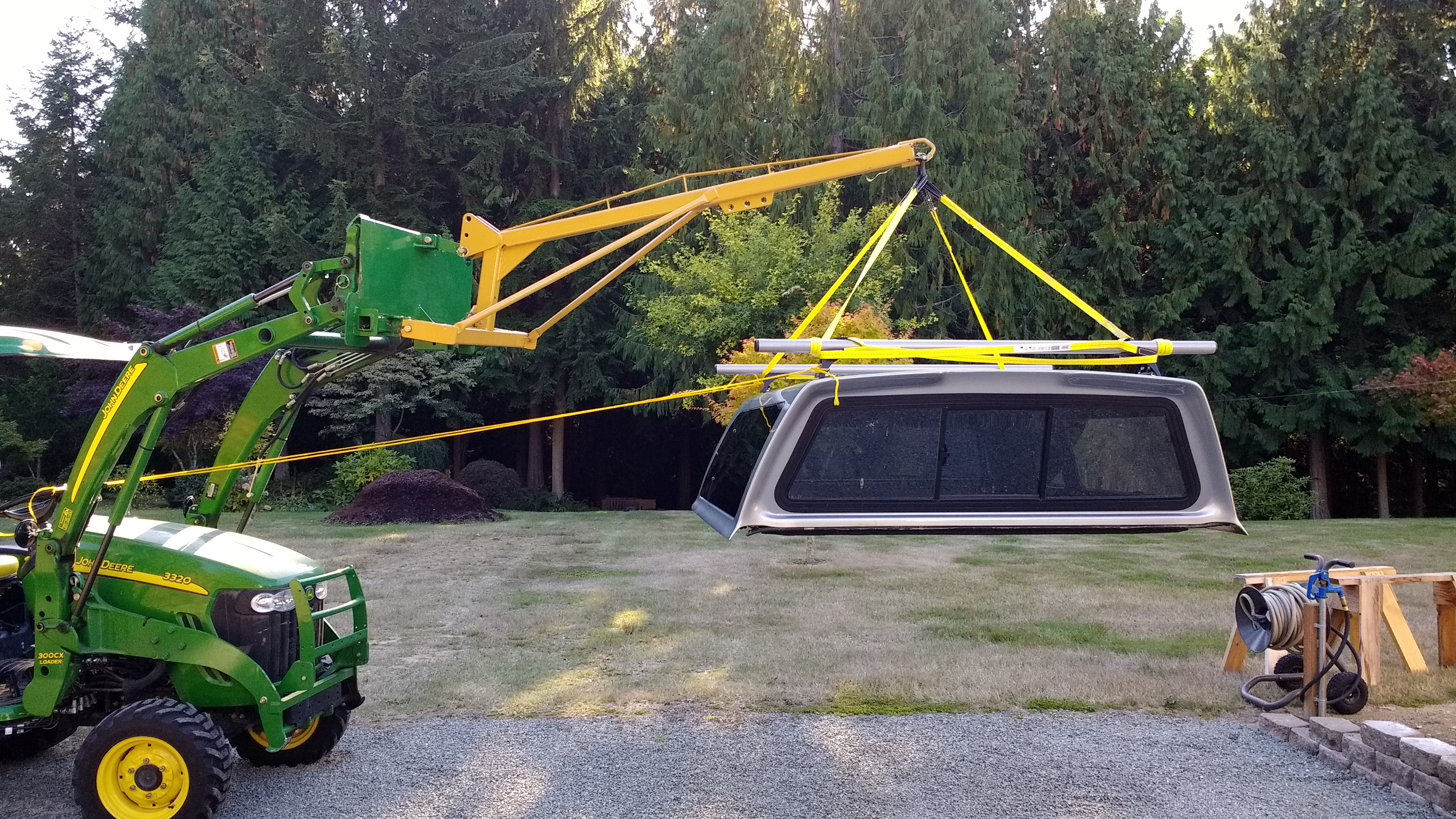 Tractor Boom Pole Lift : Tsc hd boom pole and titan jdqa pt adapter
