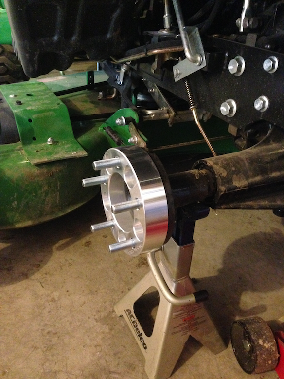 John Deere Rear Wheel Spacers : Rear wheel spacer and what i learned