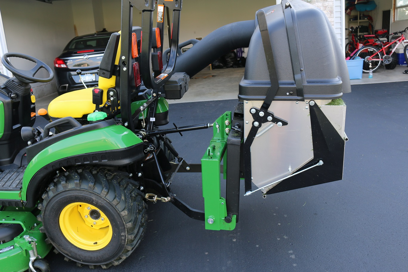 """4100 utility with 54"""" mower need dump from seat material ..."""