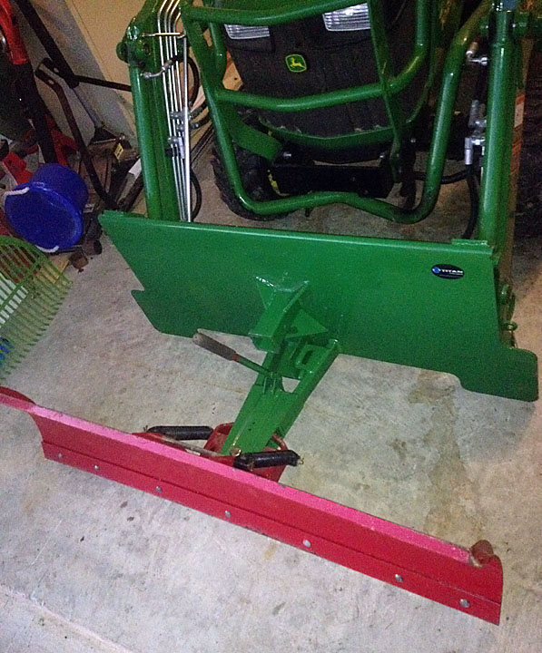 Tractor Loader Snow Plow Attachment : Custom snow plow for my h loader