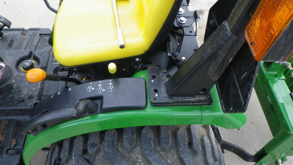 Tractor Fender Tool Box Mounted : Toolbox mount not behind seat
