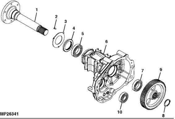 4310 rear axle seal  labor charge