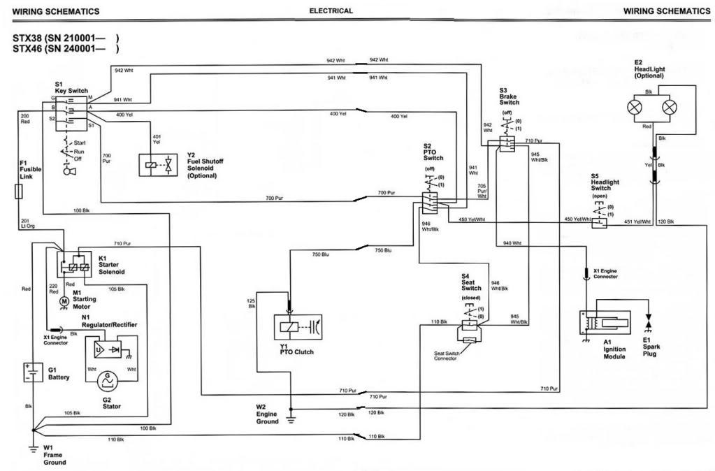 STX38 Died While Mowing – John Deere Stx38 Wiring Diagram
