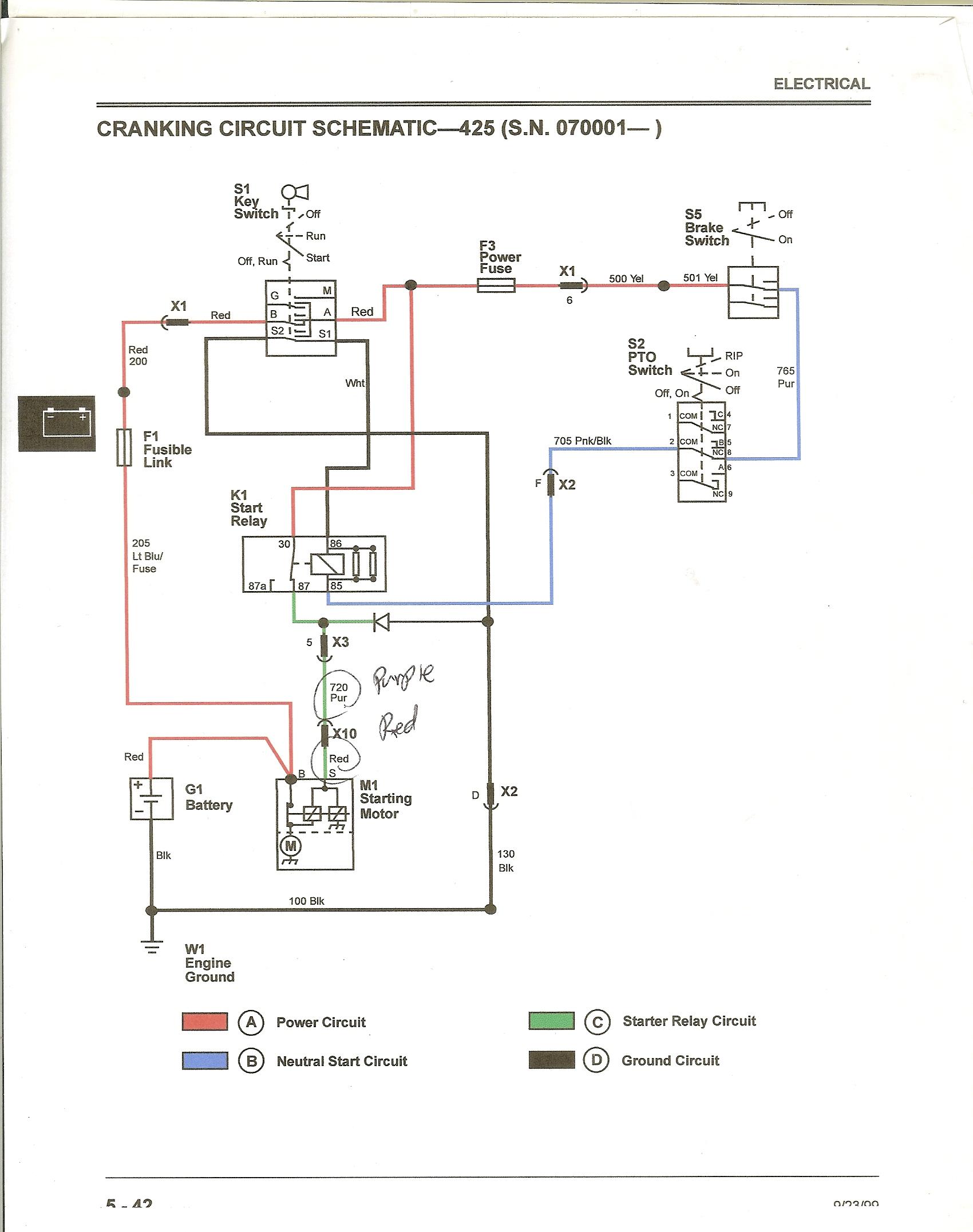 425 ignition - Motor cranks when key is turned to run ... on john deere l120 wiring diagram, john deere engine wiring diagram, john deere 170 pto wiring, muncie hydraulic electric shift wiring, john deere l111 wiring diagram, john deere mower wiring diagram, john deere 210 pto wiring, john deere 318 pto wiring, john deere radio wiring diagram, john deere alternator wiring diagram, john deere tractor wiring, john deere 50 wiring diagram, john deere 345 pto wiring, john deere 160 pto wiring, john deere 650 wiring diagram, john 10 10 switch wiring diagram, john deere 425 engine diagrams, john deere 316 pto wiring,
