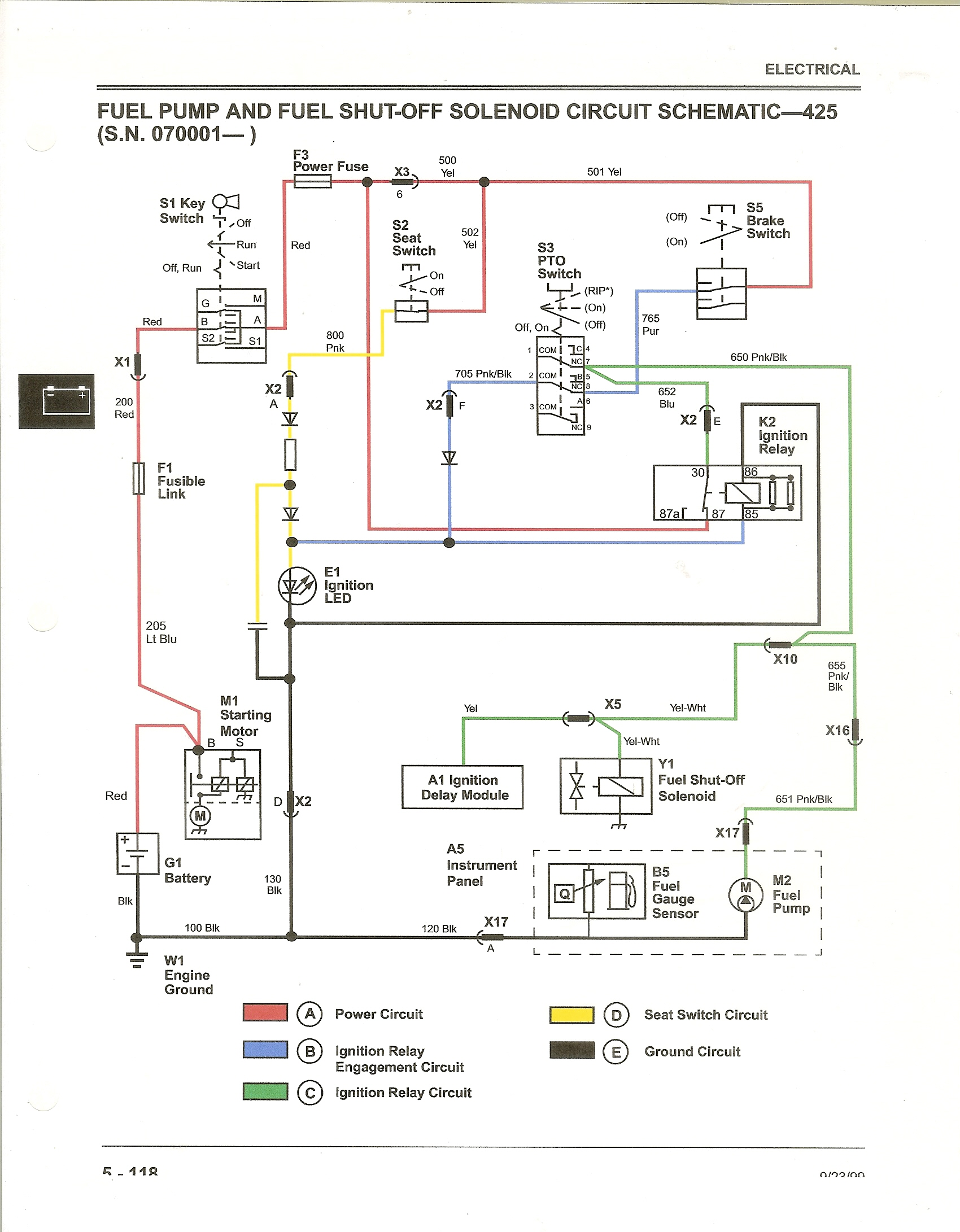 425 ignition - motor cranks when key is turned to run john deere 425 ignition wiring diagram john deere 240 ignition wiring diagram