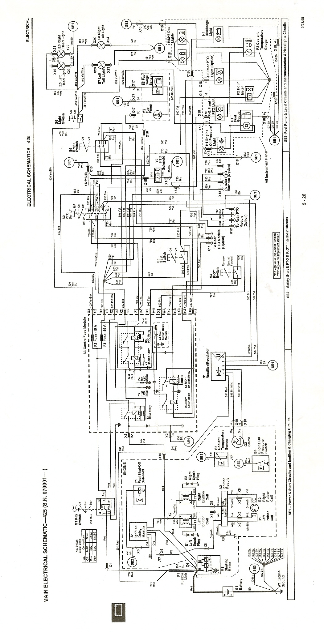 John Deere 425 Wiring Diagram from www.greentractortalk.com