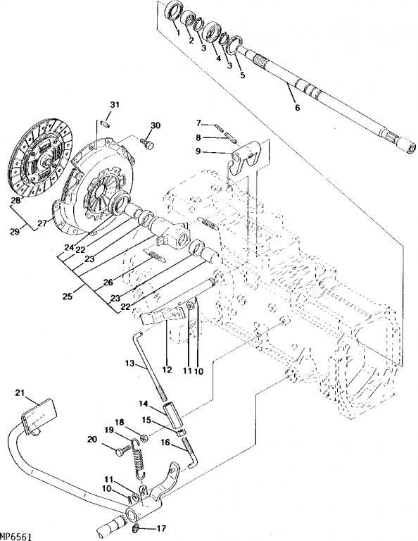 Case 580c Steering Cylinder, Case, Free Engine Image For