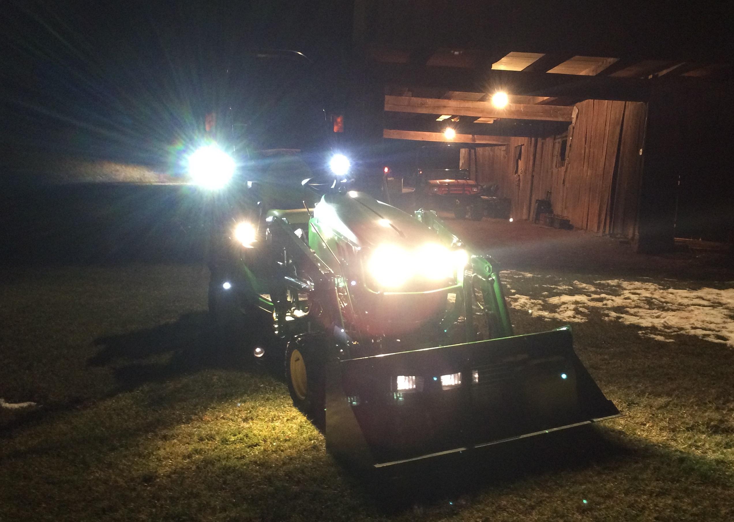 Led Lights For Utility Tractors : Jd led work lights
